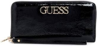 GUESS Large Uptown Zip-Around Wallet