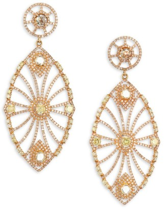 Bavna 18K Gold & Diamond Oversize Drop Earrings