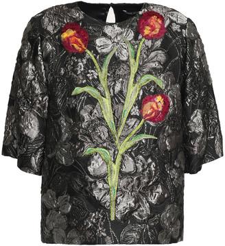 Dolce & Gabbana Floral-appliqued Brocade Top