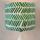 Minted Brushed Chevron Drum Lampshades