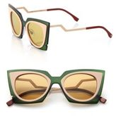 Fendi Zig-Zag 49MM Cat's-Eye Sunglasses