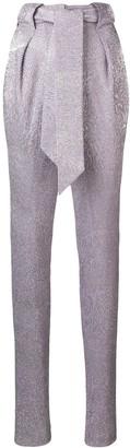Talbot Runhof Platinum Diamond Voile Trousers