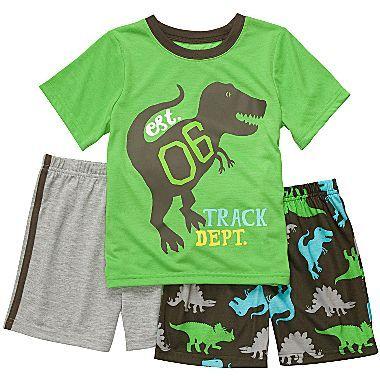 Carter's 3-pc. Dino Pajamas - Boys 4-7