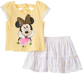 Disney Disney's Minnie Mouse Baby Girl Sequined Graphic Tee & Polka-Dot Scooter Set