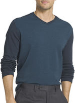 Van Heusen V Neck Long Sleeve Pullover Sweater