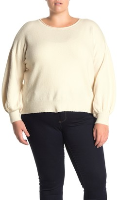 14th & Union Boatneck Balloon Sleeve Sweater (Plus Size)
