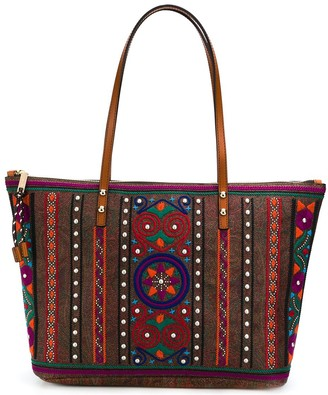 Etro Embroidered Paisley Tote