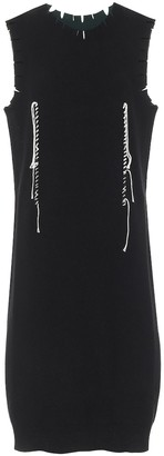Maison Margiela Distressed stretch-wool midi dress
