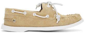 Loewe Yellow Nubuck Boat Shoes