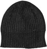 Diesel Coated Cotton Knit Beanie Hat