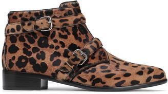 Tabitha Simmons Windle Leopard-print Calf Hair Ankle Boots