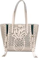 Chloé Ecru Pineapple Milo Tote Bag - women - Cotton/Calf Leather/Calf Suede - One Size