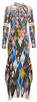 Peter Pilotto Argyle-print long-sleeved maxi dress