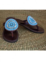 Wazi Tanzania Turquoise 'sandpiper' Sandal