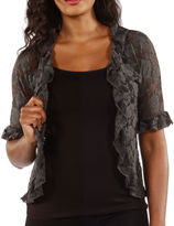 24/7 Comfort Apparel Goddess Black Lace Bolero Cardigan Shrug