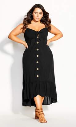 City Chic Island Love Maxi Dress - black
