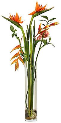 "One Kings Lane 45"" Bird-of-Paradise Arrangement with Vase - Faux"