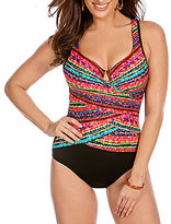 Miraclesuit Night Lights Layered Escape DD Cup Underwire One Piece