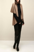 Look by M Basic Taupe Shawl Vest