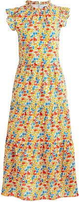 J.Crew Liberty(R) Poppy & Daisy Print Tiered Dress