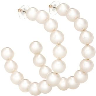 Lele Sadoughi Stardust Pearl hoop earrings