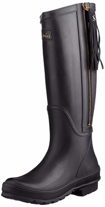 Joules Womens Collette Rain Boots with Interchangeable Tassels Black