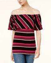Kensie Striped Off-The-Shoulder Top