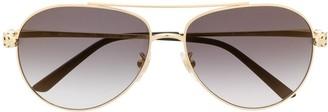 Cartier CT0233S Panther aviator sunglasses