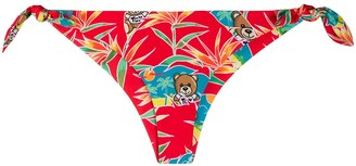 Moschino Teddy print bikini bottoms