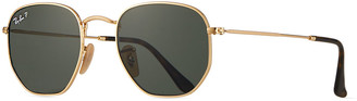 Ray-Ban Men's Round Metal Polarized Sunglasses