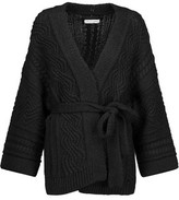 Etoile Isabel Marant Floyd Cable-Knit Stretch Cotton, Alpaca And Linen-Blend Cardigan