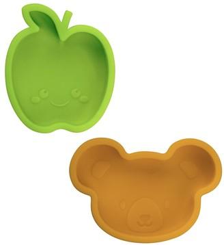 Kushies Silidip Mini Bowl 2 Pack - Lime / Orange