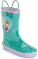 Western Chief 'Frozen Princess' Waterproof Rain Boot (Walker, Toddler, Little Kid & Big Kid)