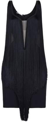 Stella McCartney All-Over Fringe Mini Dress