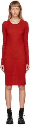Yohji Yamamoto Red Long Sleeve Dress