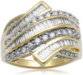 JCPenney FINE JEWELRY 1 CT. T.W. Diamond 10K Yellow Gold Bypass Cocktail Ring