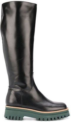 Paloma Barceló Side-Zip Knee Boots