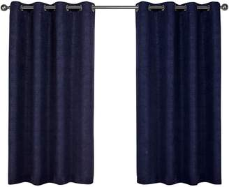 Home Outfitters Set of 2 Textured Sateen Curtain Panels