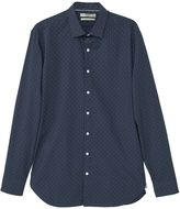 MANGO Men's Slim-fit polka-dot shirt