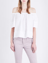 AG Jeans Sylvia off-the-shoulder twill top