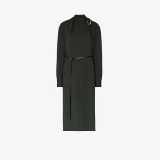 Bottega Veneta Belted Wool Wrap Dress