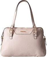 Calvin Klein Quilted Leather Pebble Satchel