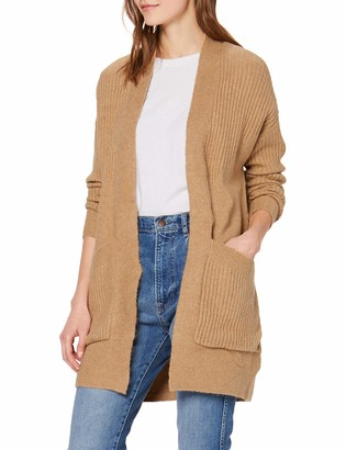 Miss Selfridge Women's Rib Long LINE Pocket Cardi Cardigan Sweater