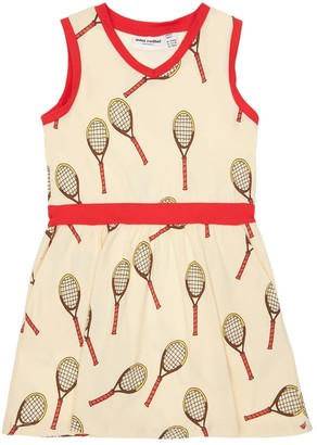 Mini Rodini Tennis Print Cotton Jersey Dress
