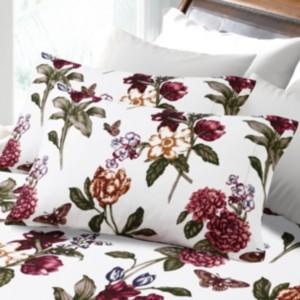 Tribeca Living 200-Gsm Flannel Blossoms Printed Extra Deep Pocket Flannel Set Bedding
