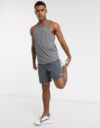ASOS 4505 icon training tank with racer back and quick dry in gray marl