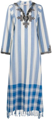Tory Burch Bead-Embellished Maxi Dress