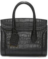 Alexander McQueen Medium Heroine Leather Satchel - Black