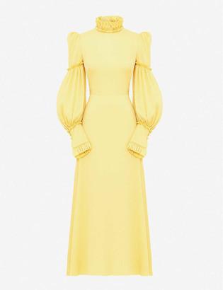 The Vampire's Wife The Dahlia ruffled stretch-silk maxi dress