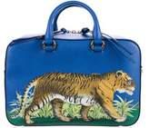 Gucci Tiger Print Medium Top Handle Bag